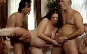 Father's Friends hardcore Gangbang his pregnant daughter